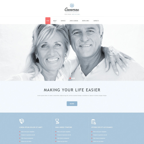 Caremax - Joomla! Template based on Bootstrap