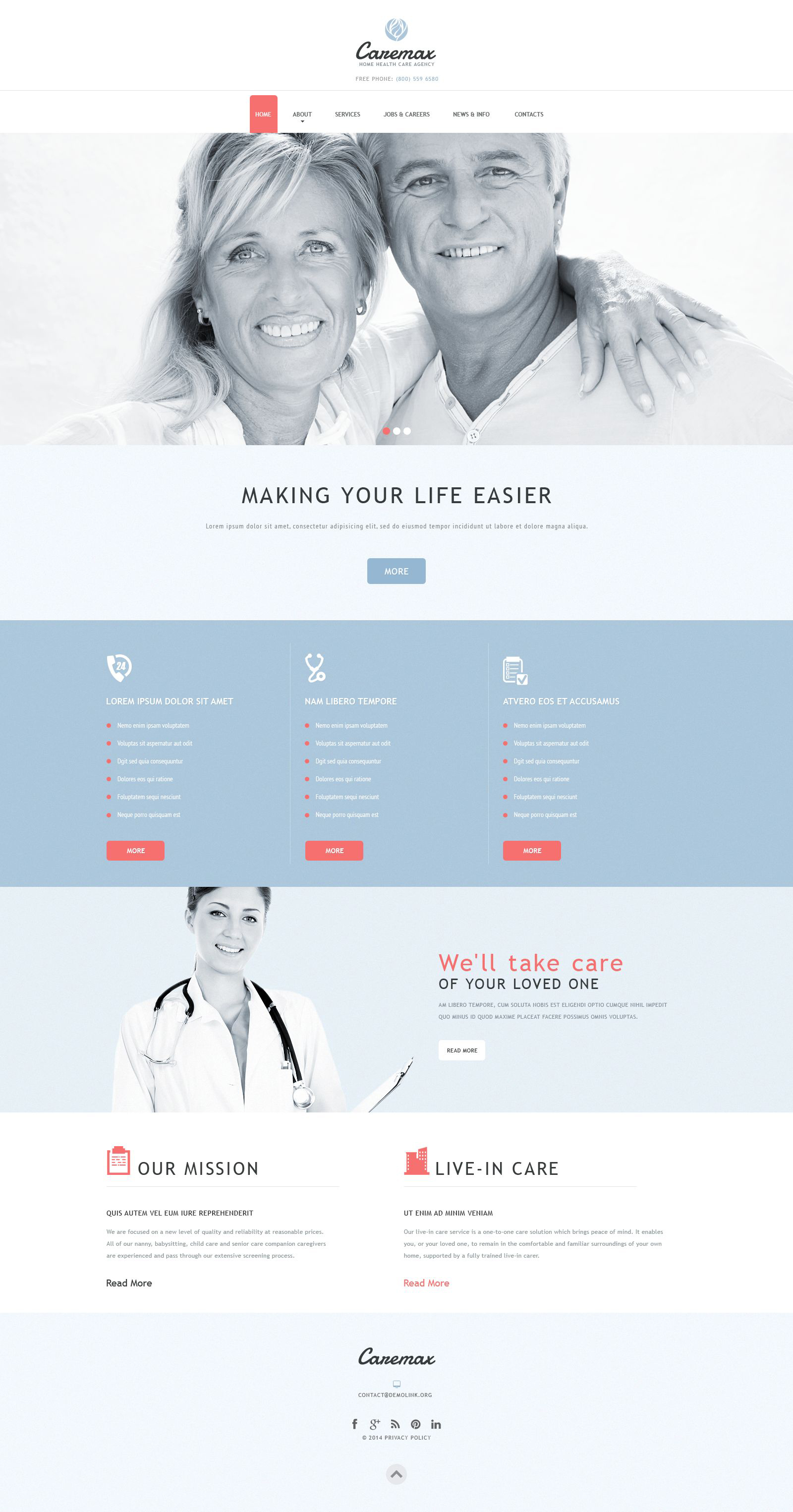Home Health Care Services Template Joomla №52852 - captura de tela