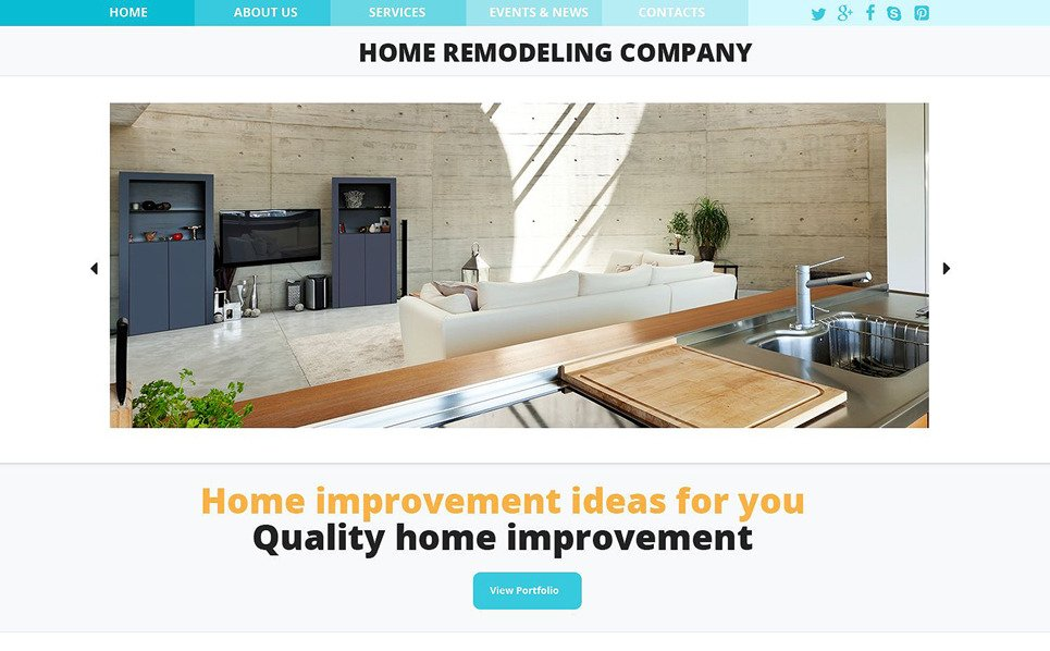 Home Remodeling Responsive Website Template 52847