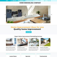 Residential Remodeling Website Template - Home remodeling website templates
