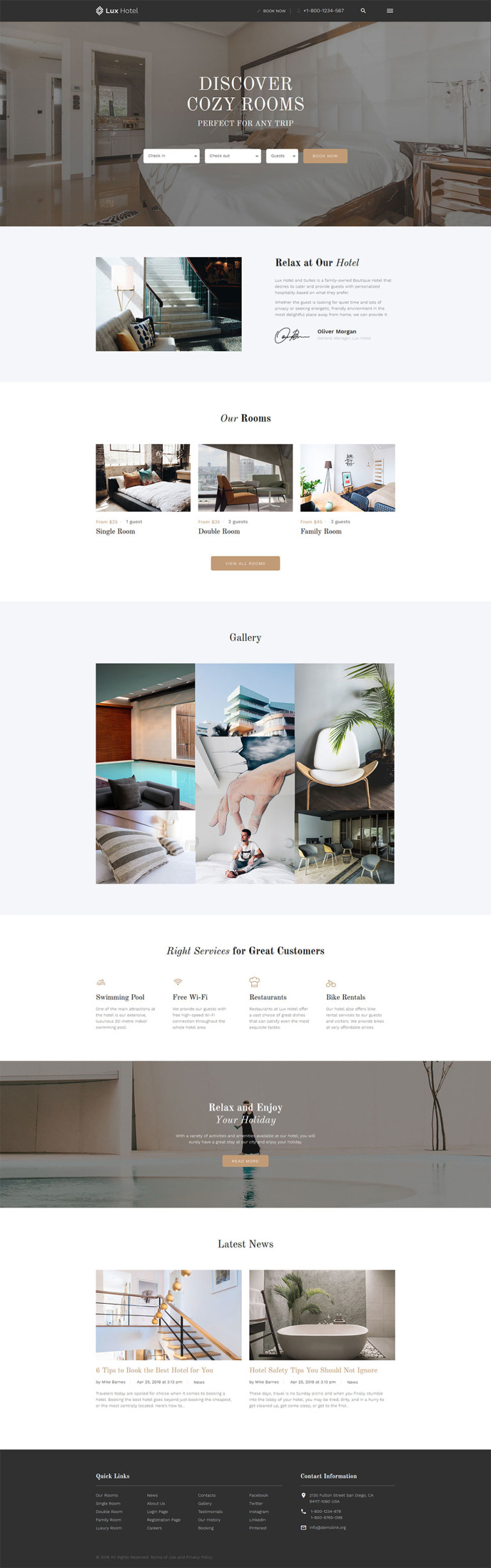 Hotel Booking Website Template New Screenshots BIG