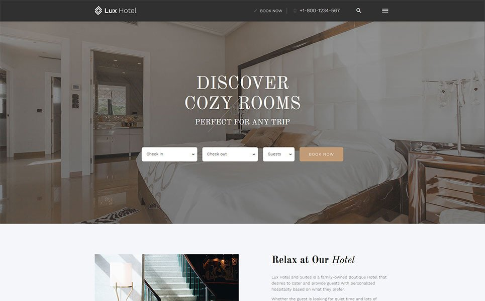 hotel booking website template 52815. Black Bedroom Furniture Sets. Home Design Ideas