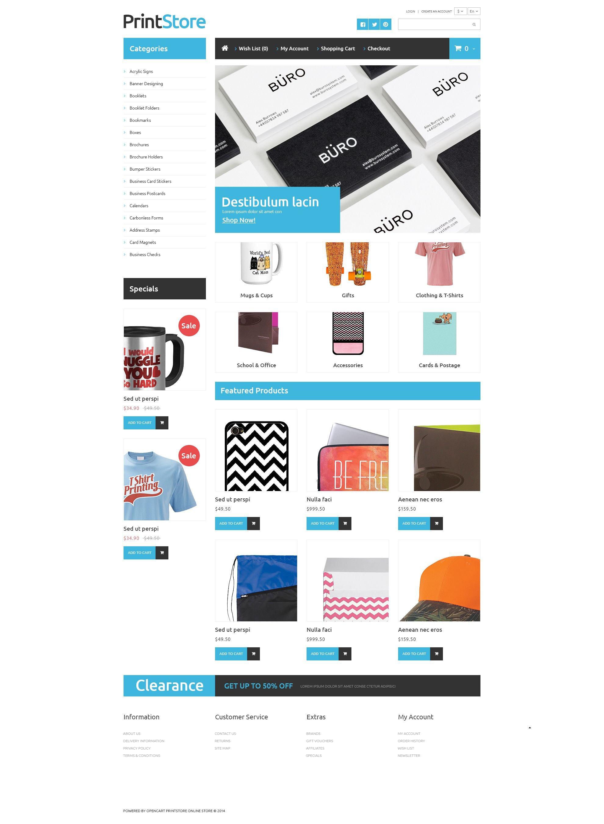 """Imprinted Items OpenCart Template"" Responsive OpenCart Template №52864"