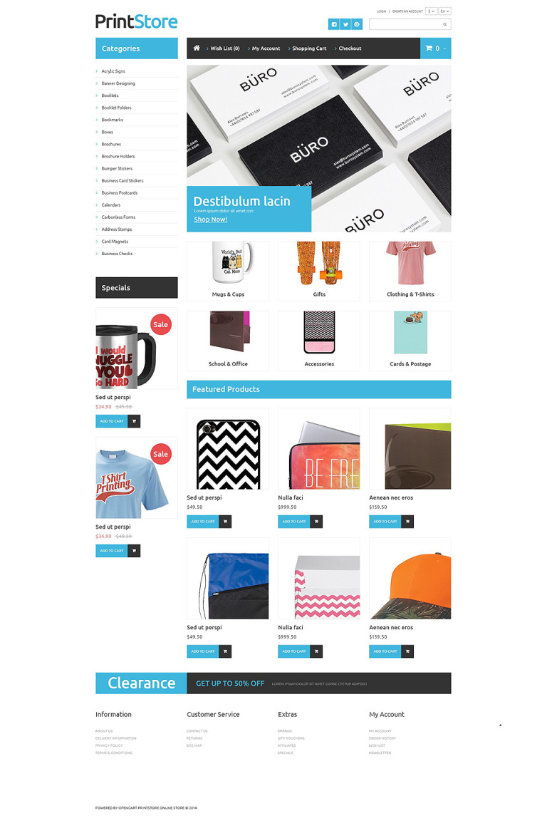 Imprinted Items OpenCart Template New Screenshots BIG
