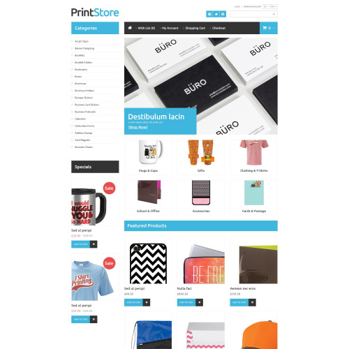 Print Store - OpenCart Template based on Bootstrap