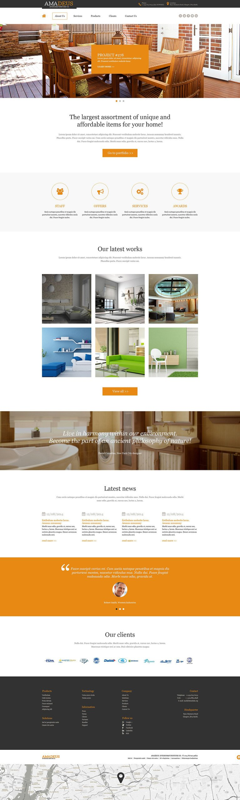 Interior & Furniture Muse Template New Screenshots BIG
