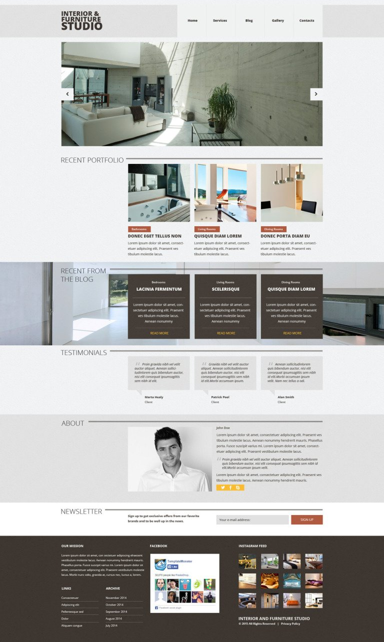 Interior & Furniture Responsive Joomla Template New Screenshots BIG