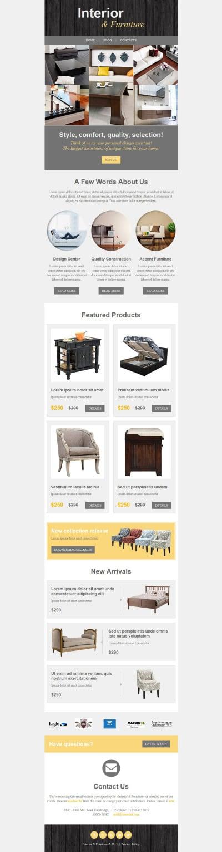 Interior Design Newsletter Simple Interior & Furniture Newsletter Templates  Templates Decorating Design