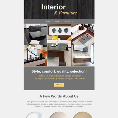 Interior & Furniture Responsive Newsletter Template #52838