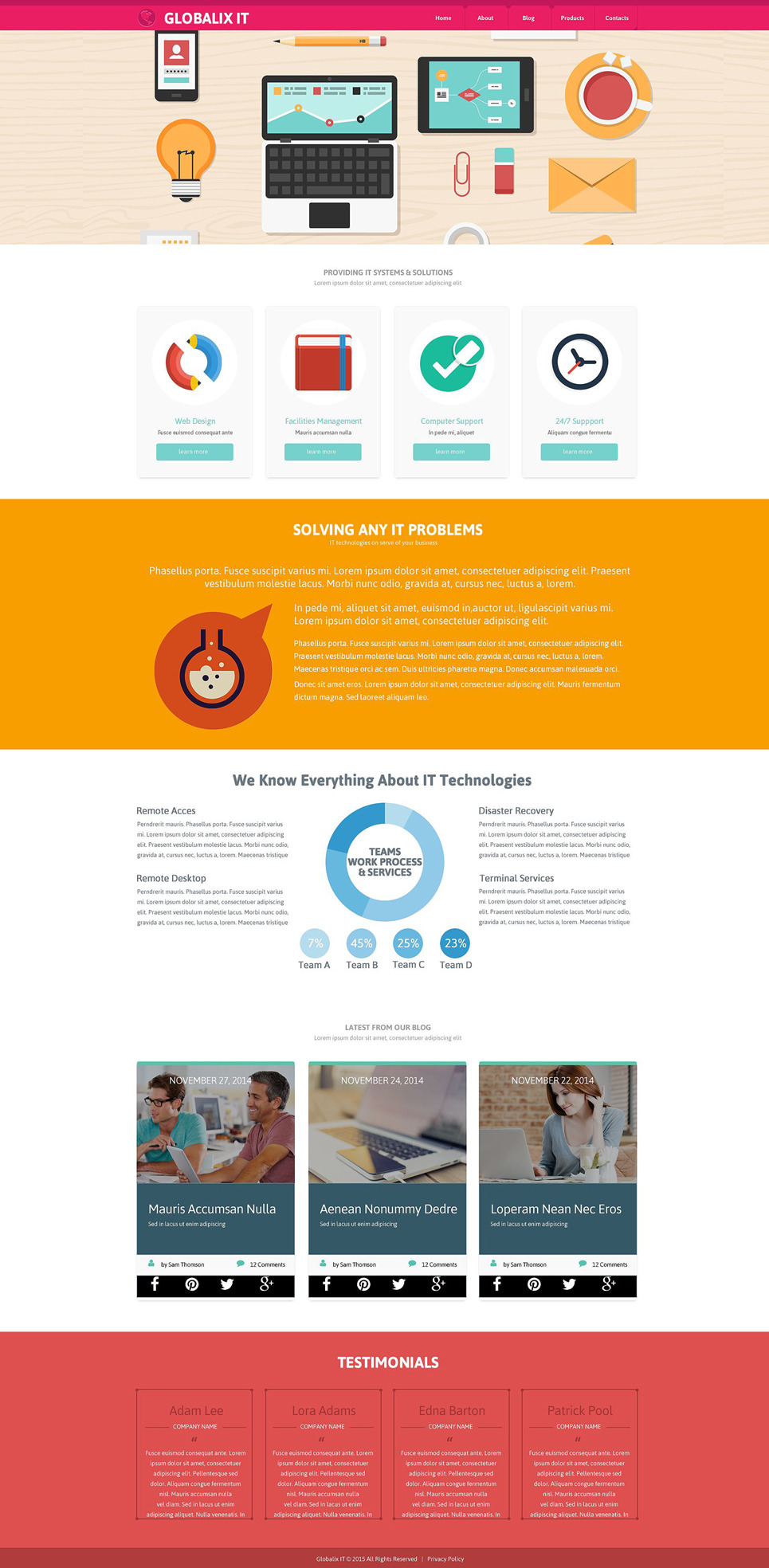 IT Support Company Website Template New Screenshots BIG
