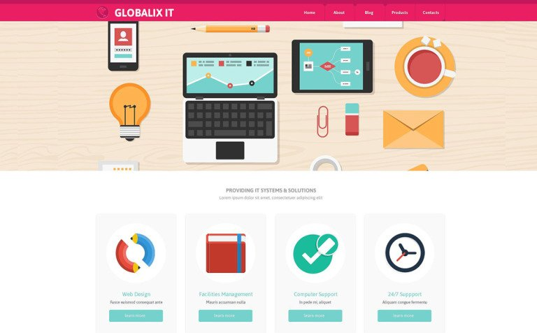 Information Technology Website Template - Information website template
