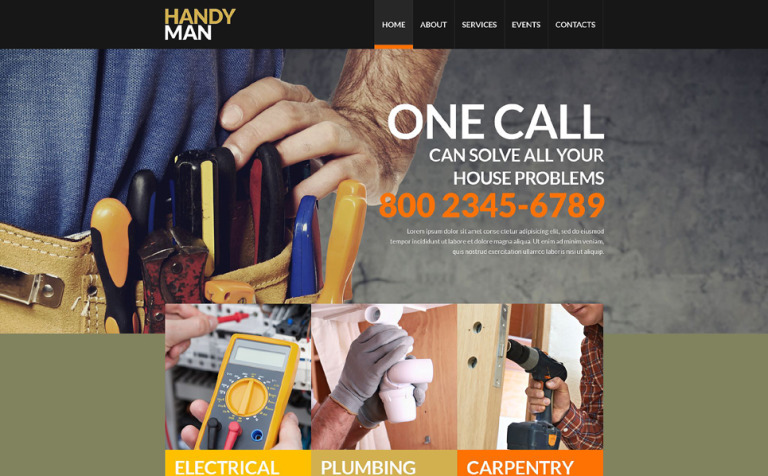 Maintenance Services Website Template 52861