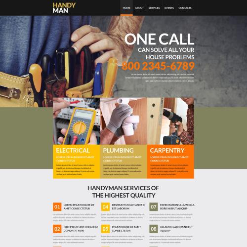 Handy Man - Responsive Website Template