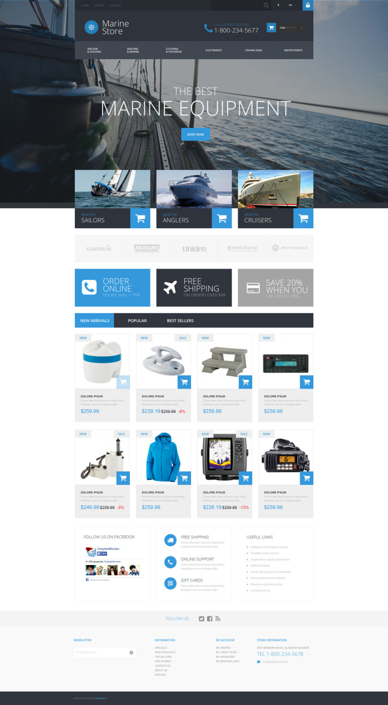 Marine Store PrestaShop Theme New Screenshots BIG