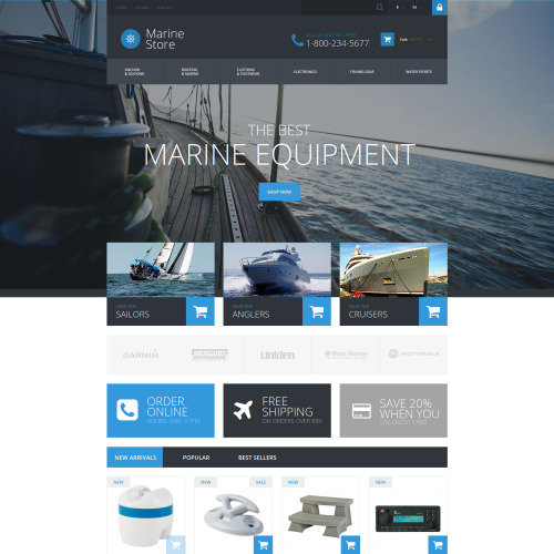 Marine Store - PrestaShop Template based on Bootstrap