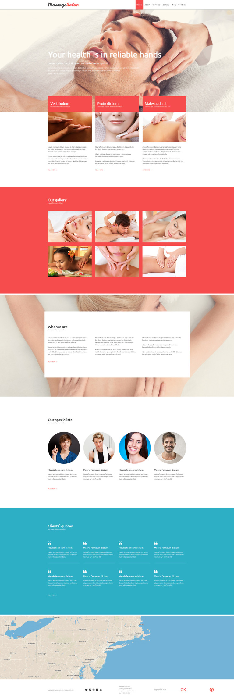 Massage Salon Joomla Template New Screenshots BIG
