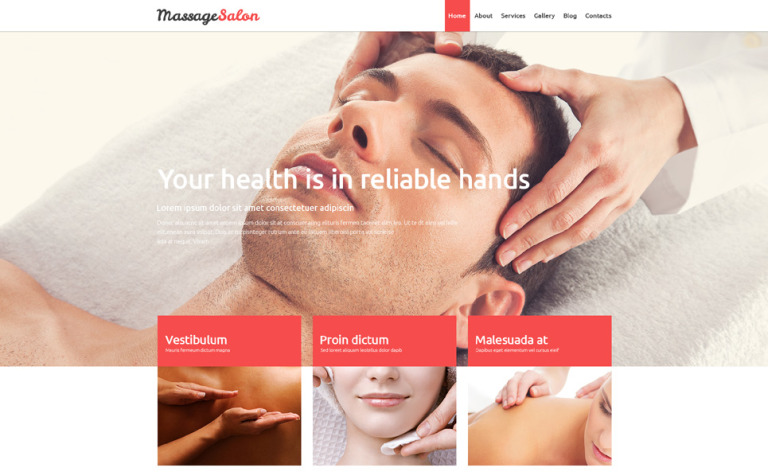 Massage Salon Joomla Template