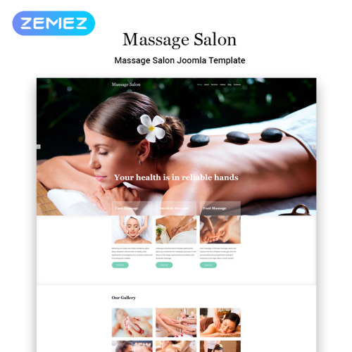 Massage Salon - Joomla! Template based on Bootstrap