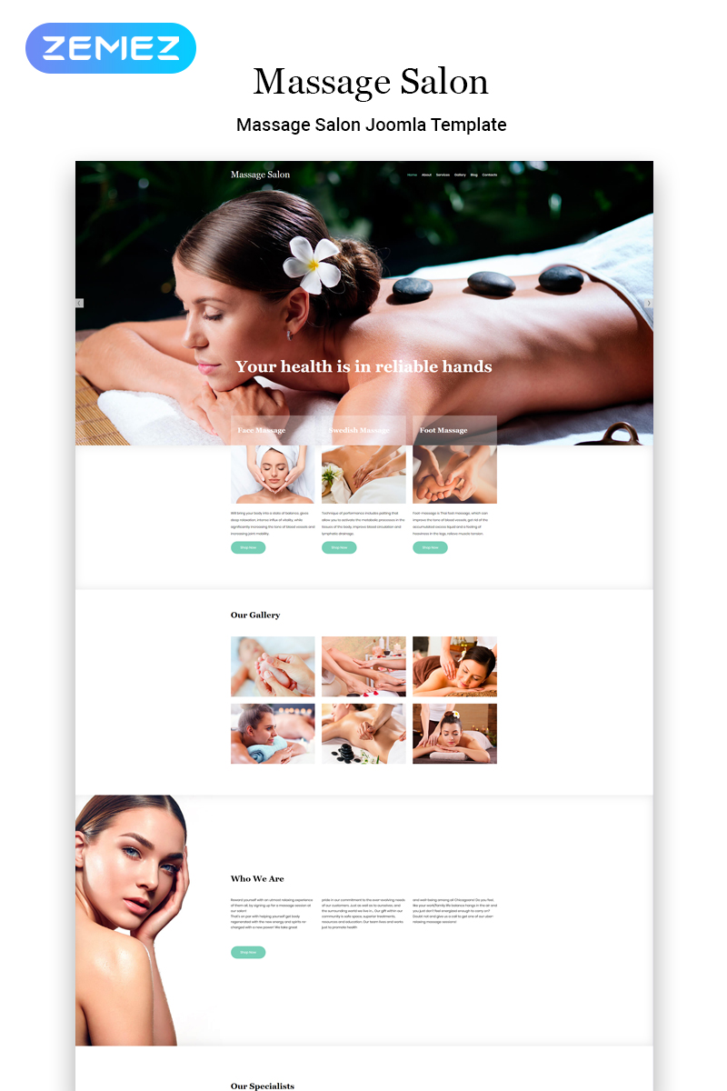 Massage Salon Ready-to-Use Modern Joomla Template