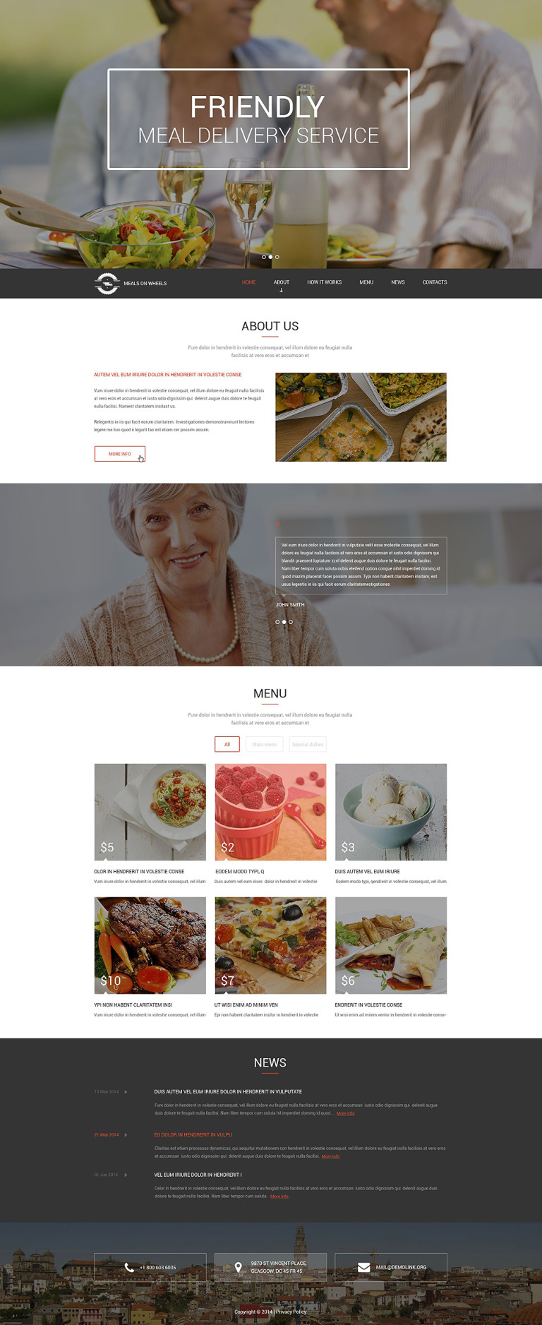 Meals for Seniors Drupal Template New Screenshots BIG