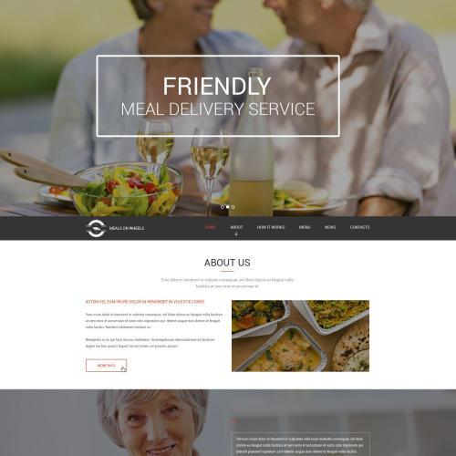 Friendly Meal Delivery Service - Responsive Drupal Template