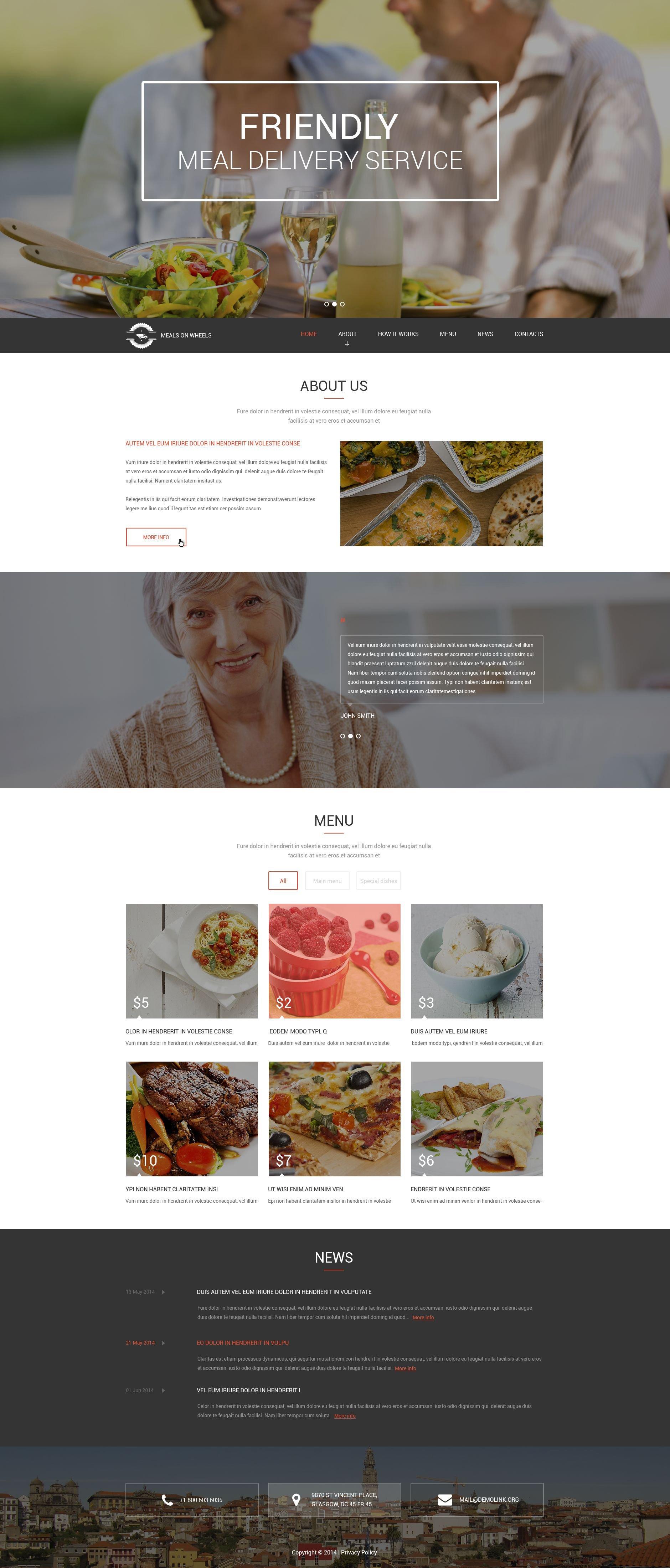 """""""Meals for Seniors"""" 响应式Drupal模板 #52896"""