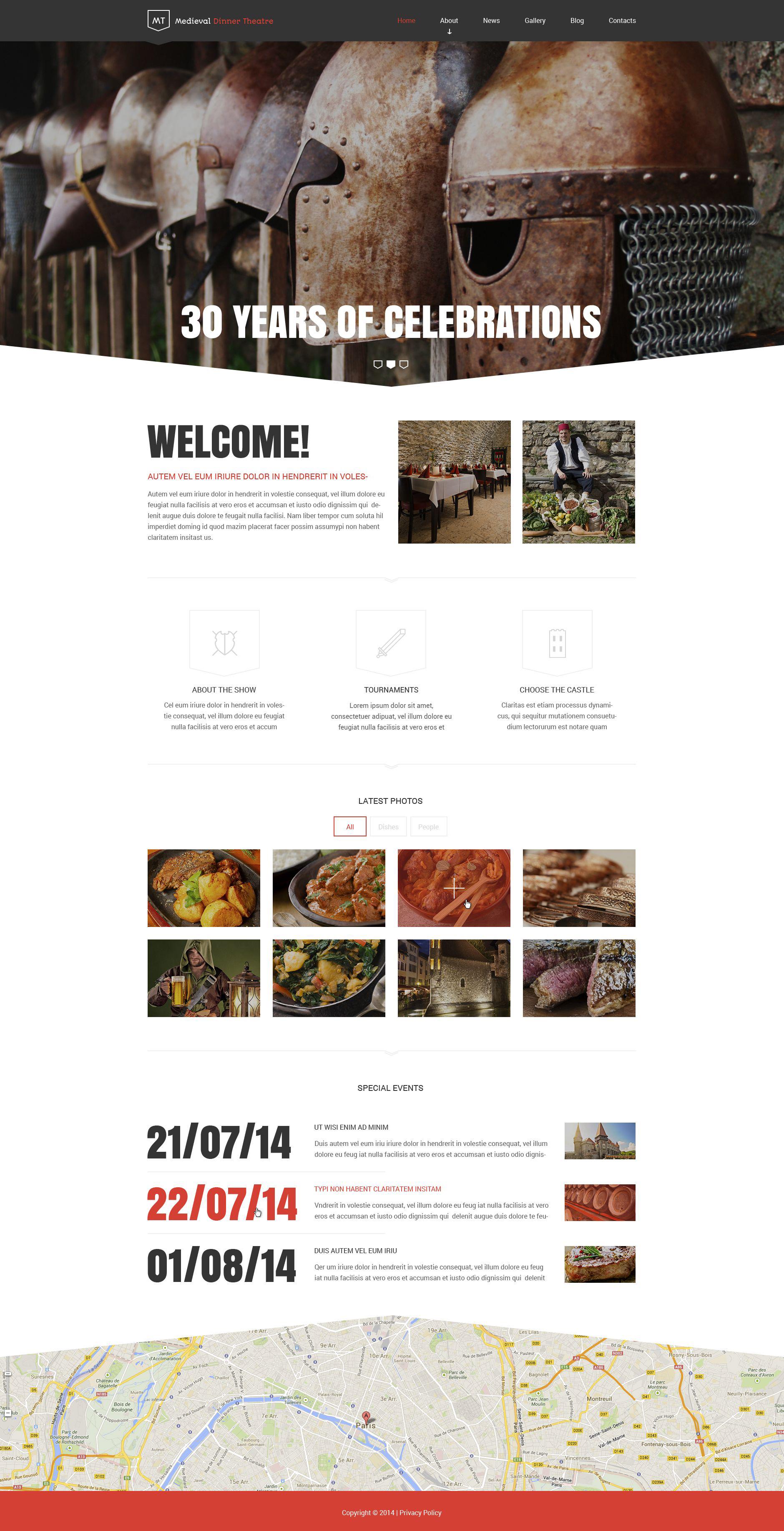 """Medieval Dinner Theatre"" - адаптивний Drupal шаблон №52819"