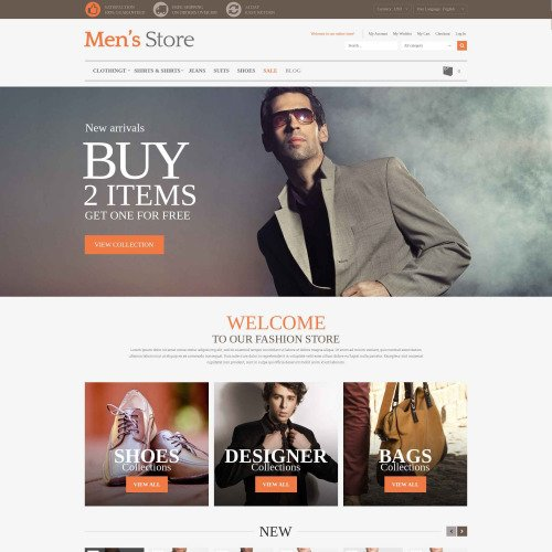 Men's Store - Magento Template based on Bootstrap