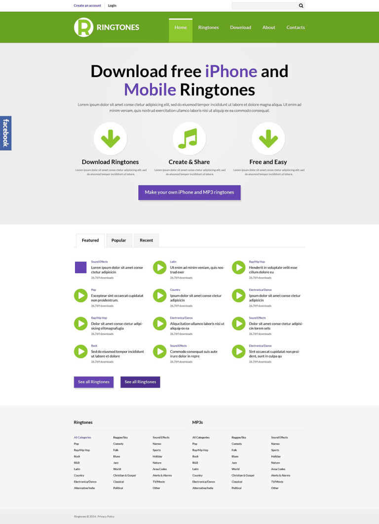 Mobile Content Responsive Website Template New Screenshots BIG