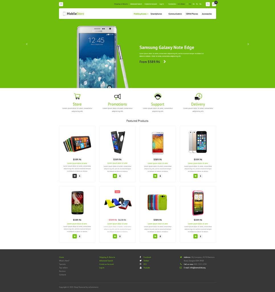 Mobile Phones OsCommerce Template New Screenshots BIG