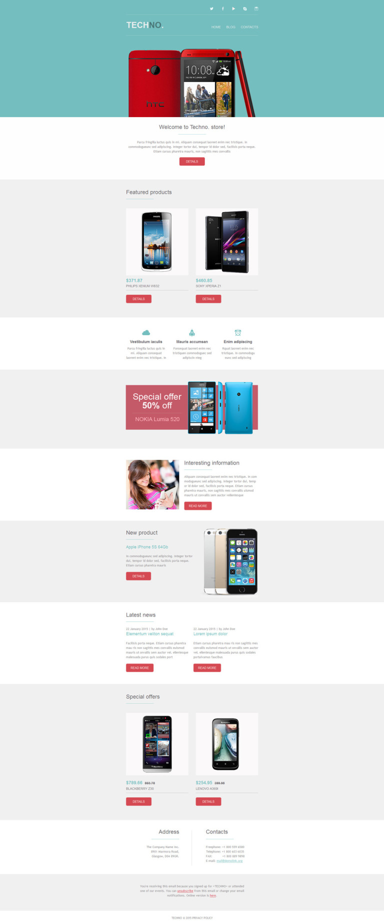 Mobile Store Newsletter Template New Screenshots BIG