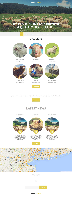 "Modello Joomla Responsive #52805 ""Sheep Farm"" - screenshot"