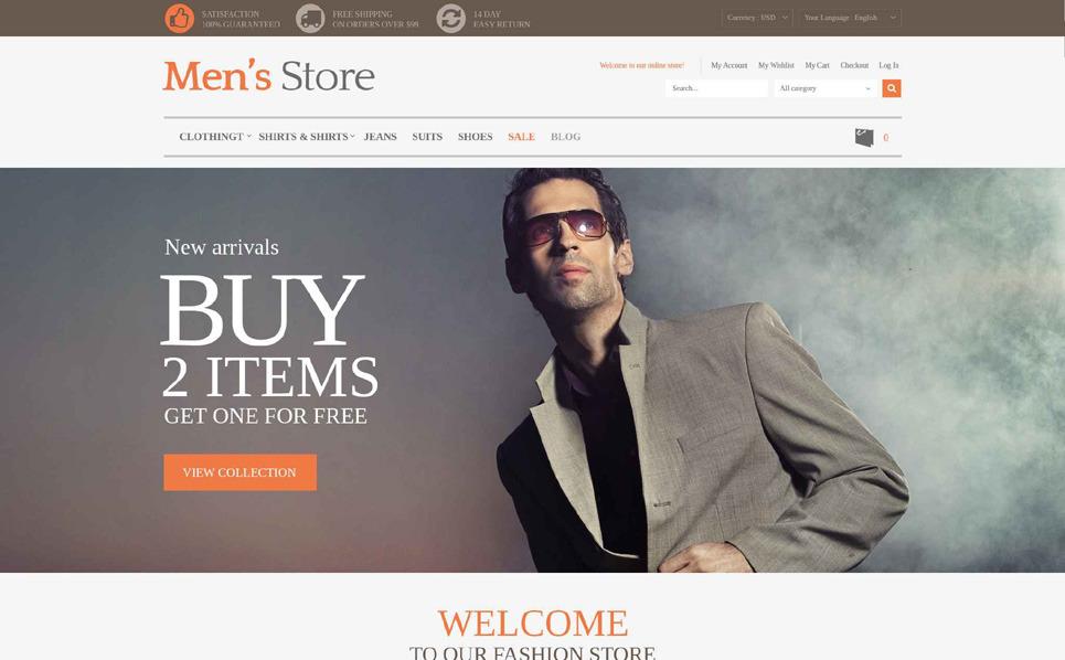 Modello Magento Responsive #52811 per Un Sito di Fashion Store New Screenshots BIG