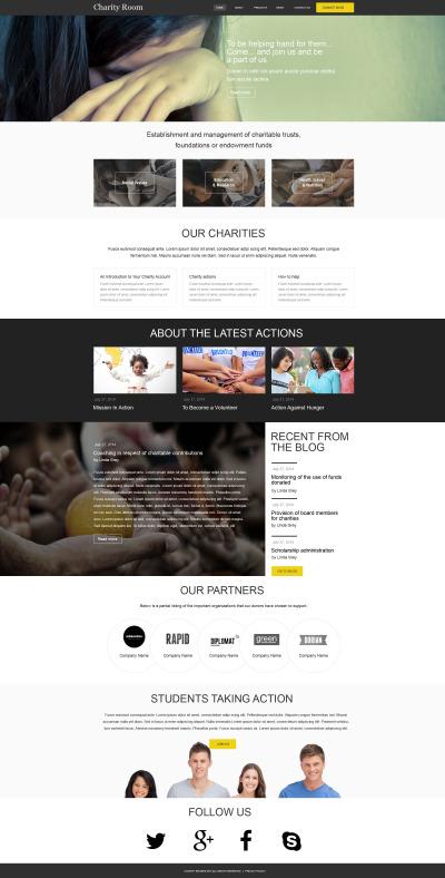 Muse шаблон №52870 на тему детская благотворительность