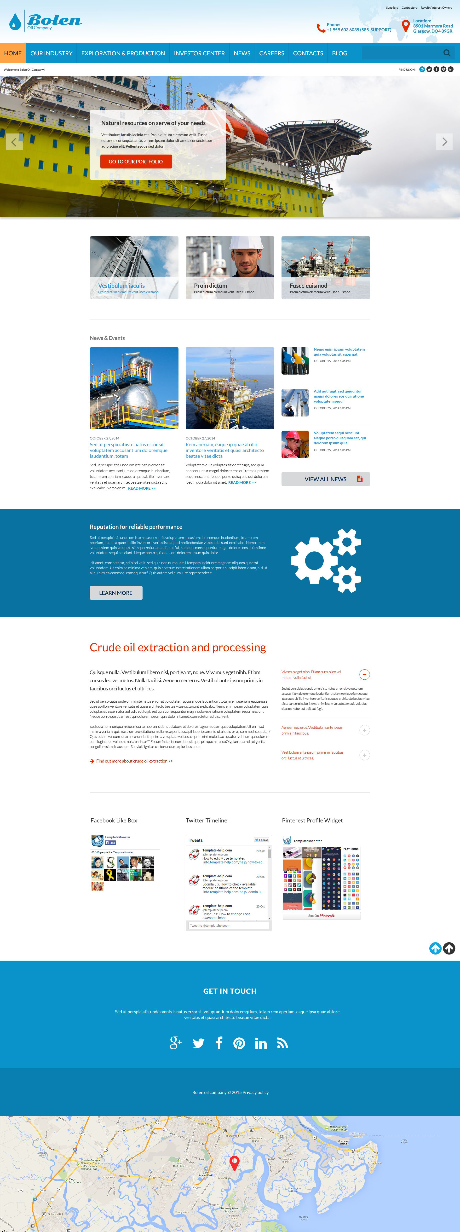 """Oil Company"" modèle web adaptatif #52890"
