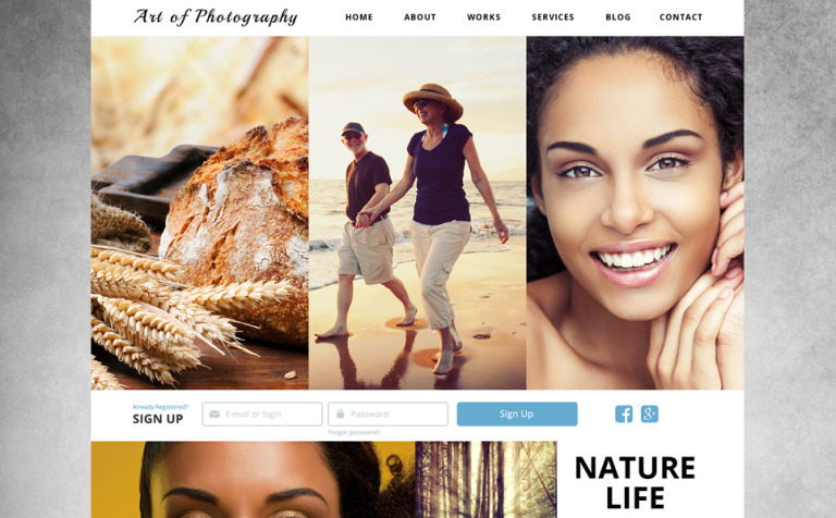 Online Photo Exhibition Joomla Template