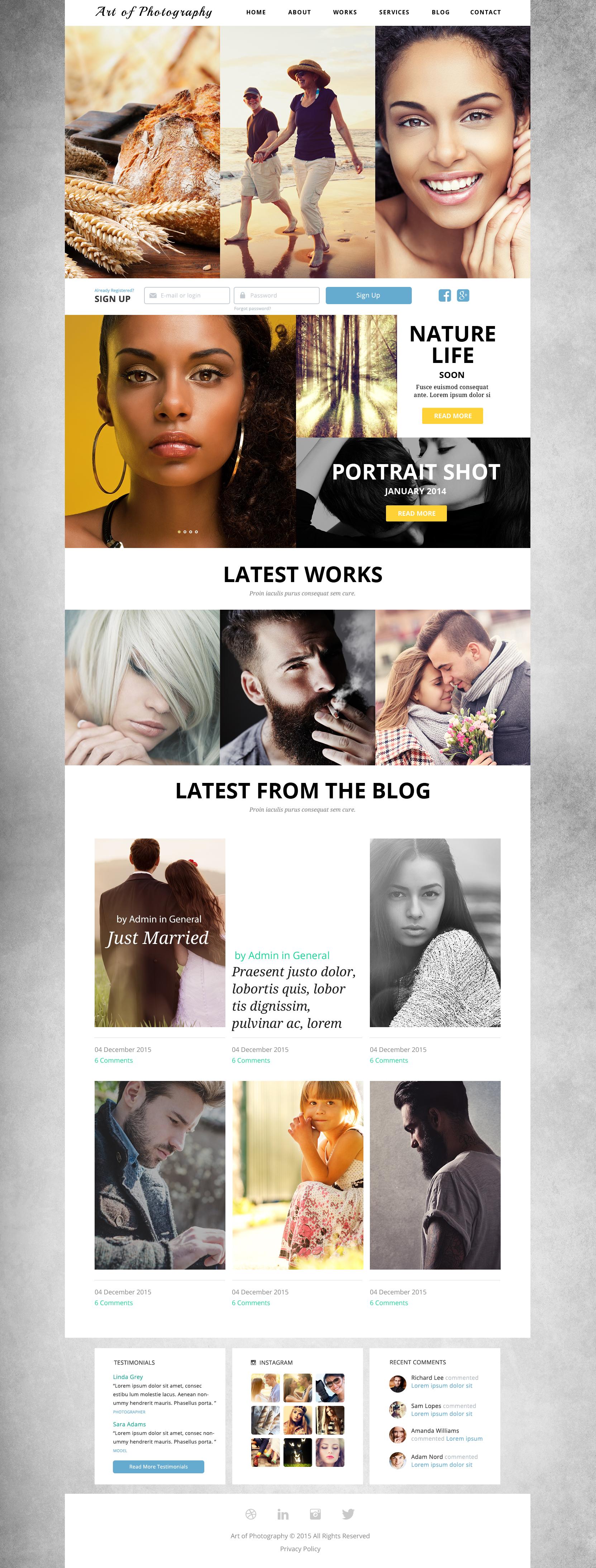 Online Photo Exhibition Joomla Template - screenshot