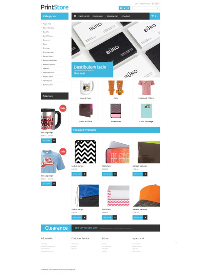 "OpenCart Vorlage namens ""Imprinted Items"" #52864"