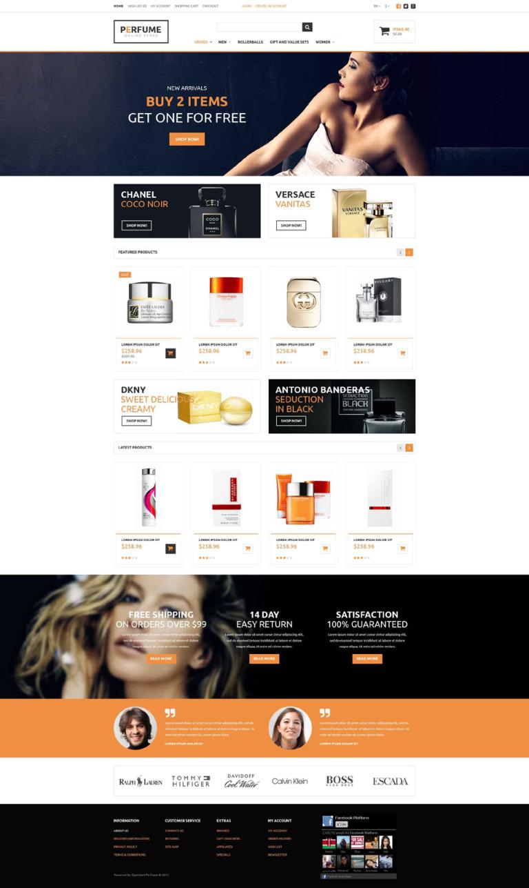 Perfume Store OpenCart Template New Screenshots BIG