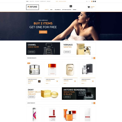 Perfume  - OpenCart Template based on Bootstrap