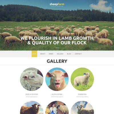 Responsive Plantilla Joomla #52805 para Sitio de  para Sitio de Granjas ovinas