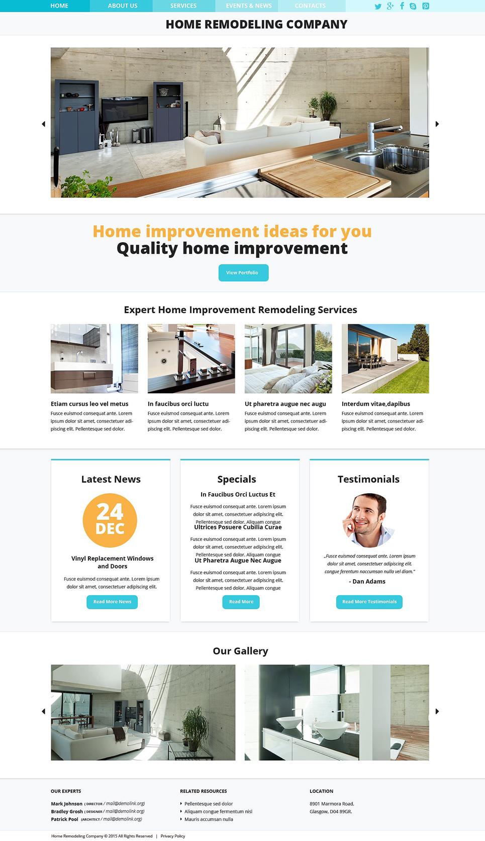 Plantilla web 52847 para sitio de remodelaci n de casa for Casa piscitelli pagina web
