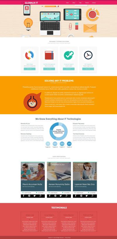 Responsive Plantilla Web #52879 para Sitio de  para Sitio de Tecnología de la información