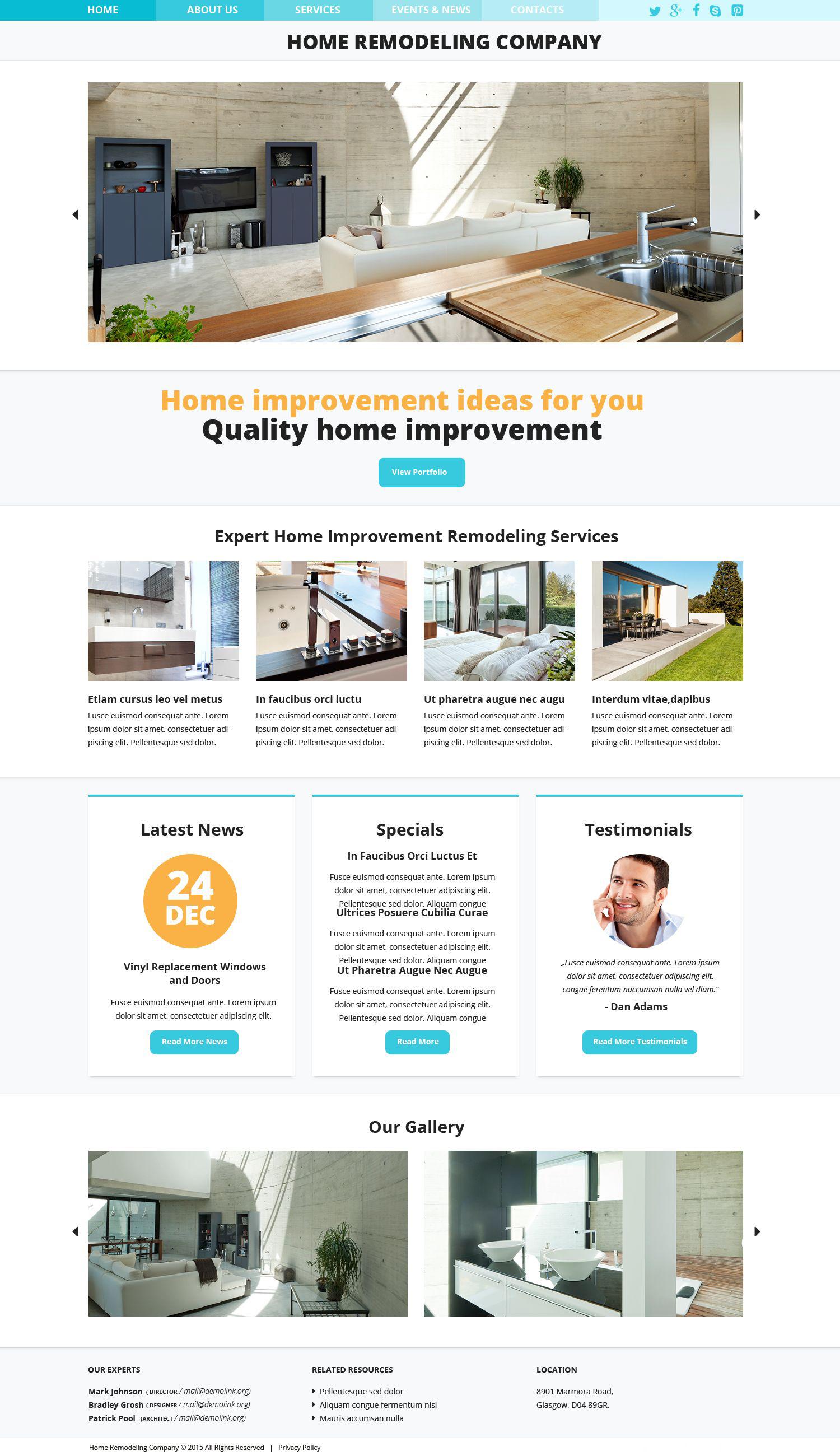 Plantilla Web Responsive para Sitio de Remodelación de casa #52847 - captura de pantalla