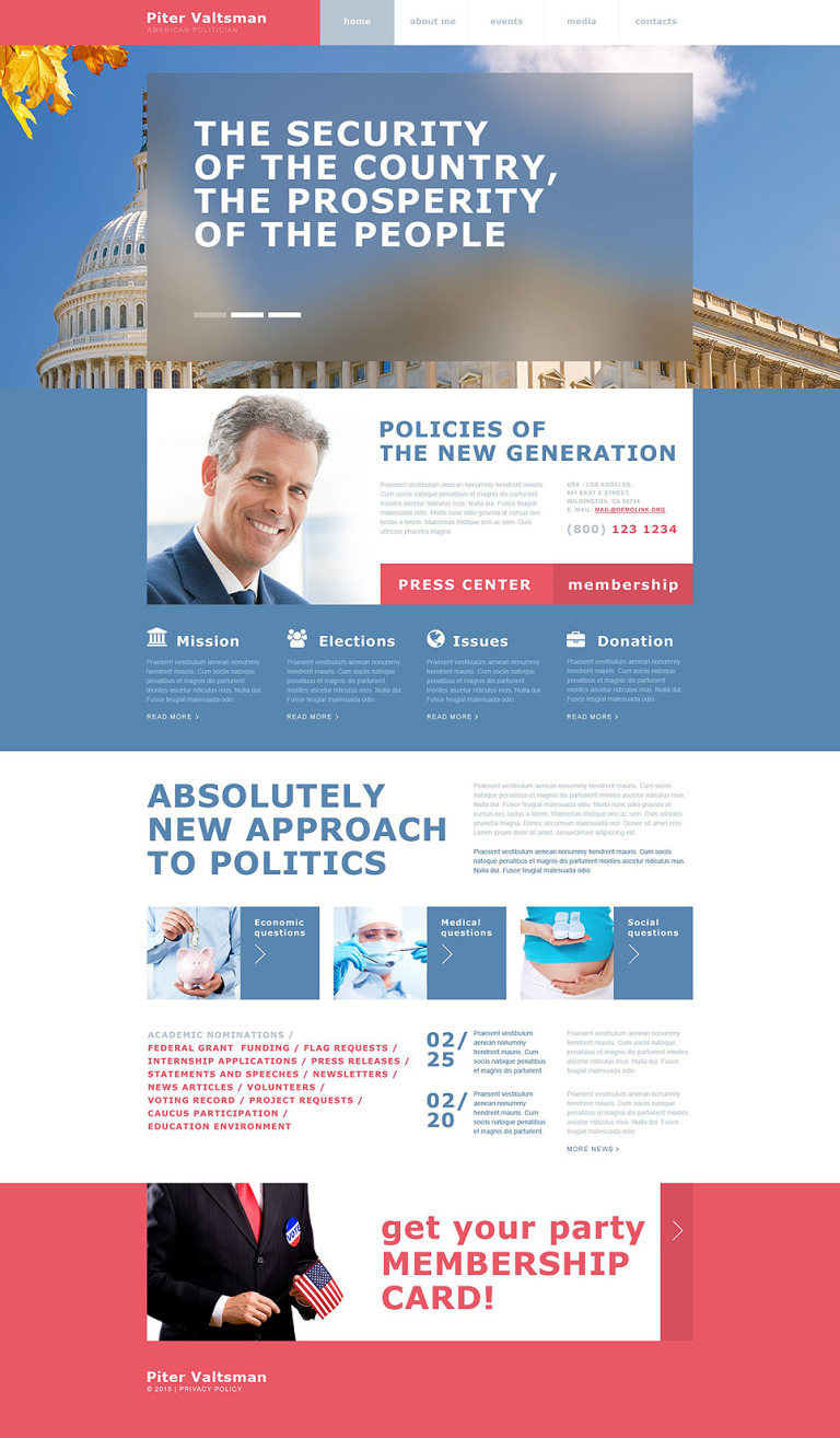 Political Candidate Muse Template New Screenshots BIG