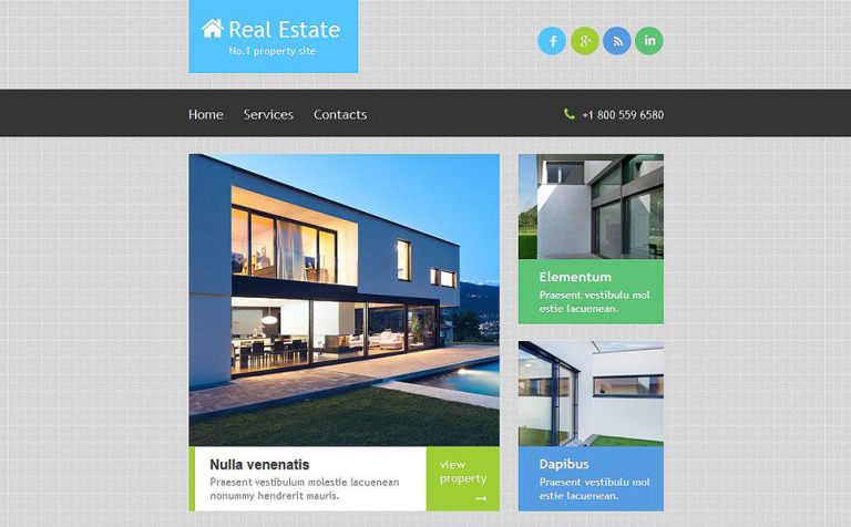Real Estate Agency Responsive Newsletter Template #52885