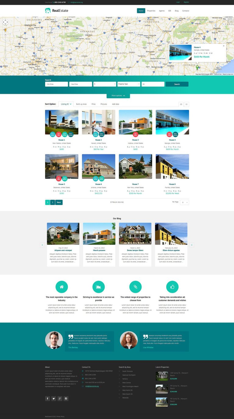 Real Estate Agency Responsive WordPress Theme New Screenshots BIG