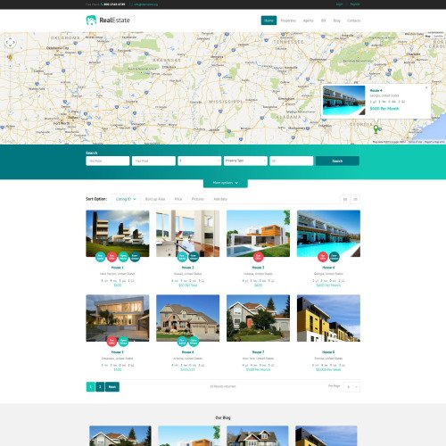 Real Estate Agency - WordPress Template based on Bootstrap