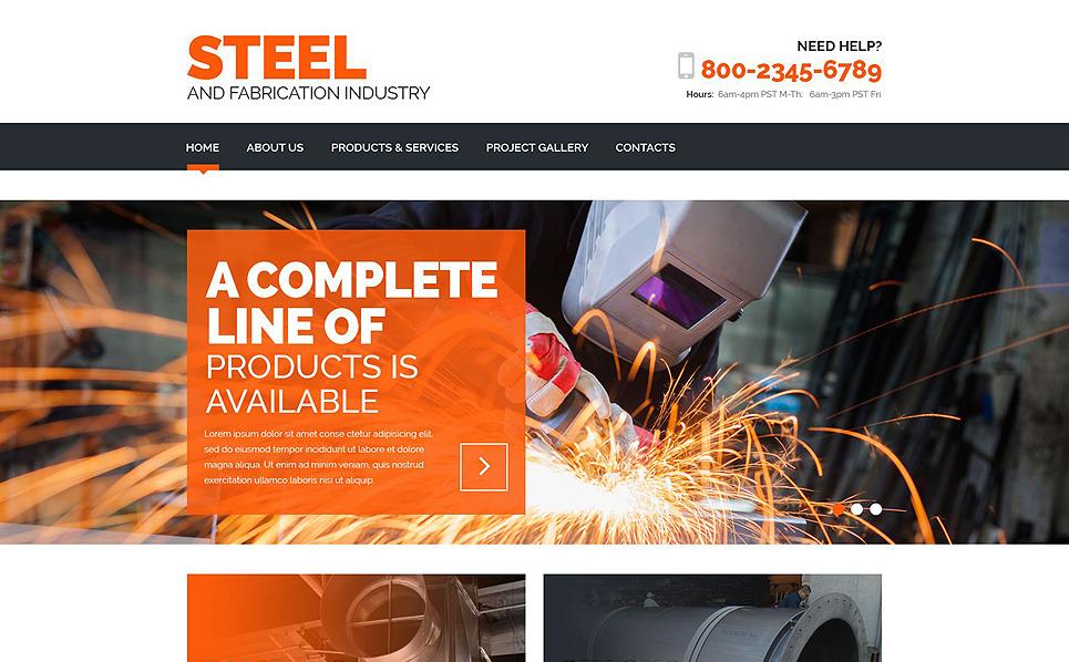 Responsive Çelik Fabrikası  Web Sitesi Şablonu New Screenshots BIG