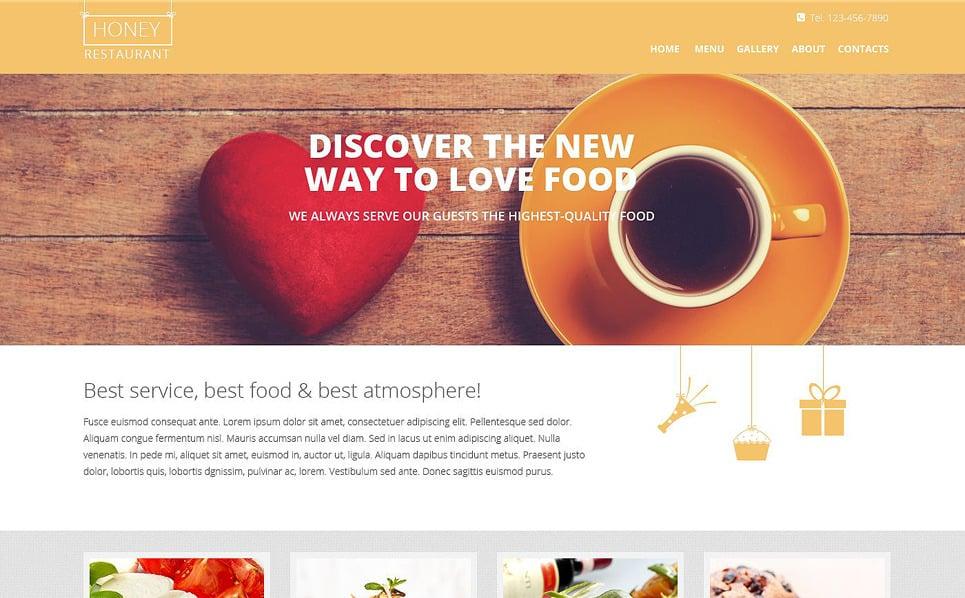 Responsive European Restaurant Templates Web Sitesi Şablonu New Screenshots BIG